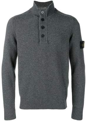 Stone Island button-up knit jumper