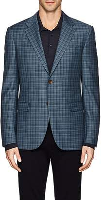 Barneys New York MEN'S PLAID WOOL TWO-BUTTON SPORTCOAT