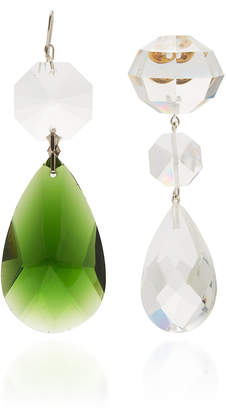 1ce012587 Tory Burch Multi Crystal Mismatched Drop Earring