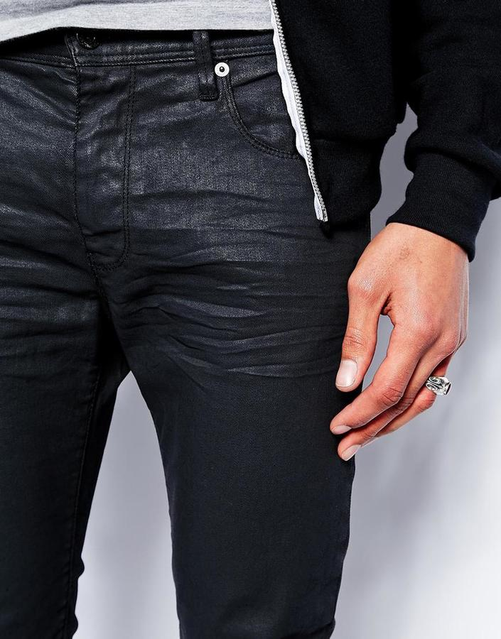 Love Moschino Slim Fit Jeans in Black Coated