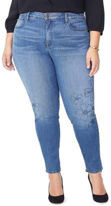 NYDJ Ami Floral Skinny Jeans