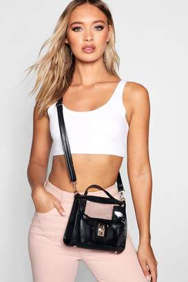 boohoo Clear Cross Body With Inner Pouch