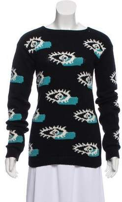 Prada Wool & Cashmere-Blend Intarsia Sweater