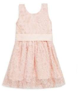 Little Girl's & Girl's Lace A-Line Dress
