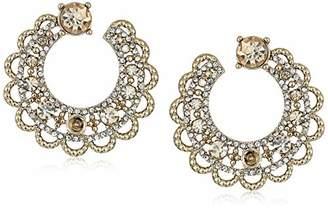Marchesa Women's Gold Tone Swirl Hoop Earrings