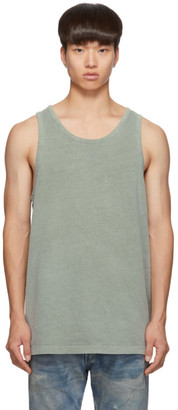 John Elliott Green Rugby Tank Top