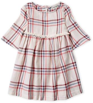 Lucky Brand Toddler Girls) Plaid Fringe Trim Dress