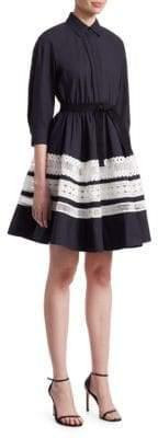Maje Ramona Poplin Fit-&-Flare Dress