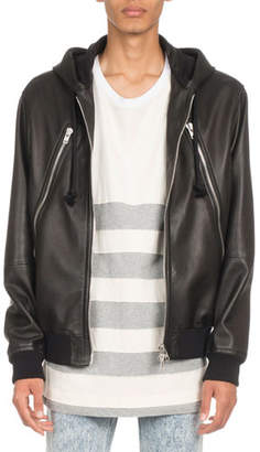 Maison Margiela Hooded Leather Jacket