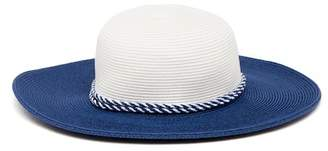 August Hat Contrasting Rope Trim Floppy Hat
