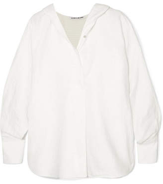Elizabeth and James Carson Hooded Cotton-cloqué Top - White