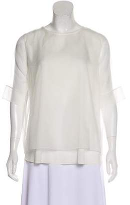 Fabiana Filippi Silk Short Sleeve Top w/ Tags