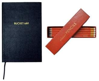 Sloane Stationery Bucket List Pocket Notebook & Clever Pencils
