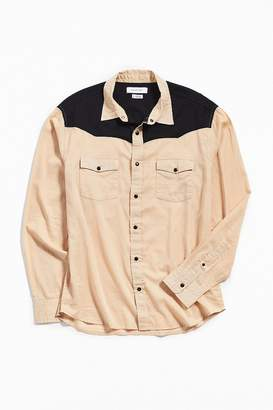 Urban Outfitters Colorblock Button-Down Western Shirt