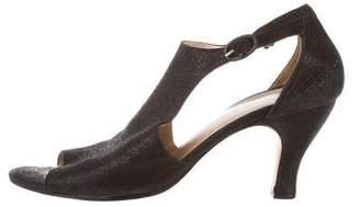 Repetto Suede Peep-Toe Sandals