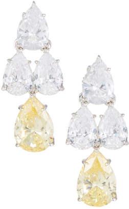 FANTASIA Pear-Cut CZ Waterfall Chandelier Earrings