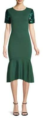 Sachin + Babi Misha Sequined-Sleeve Dress