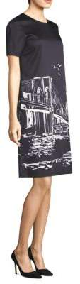 Lafayette 148 New York Manhattan Nightscape Giuliana Sheath Dress
