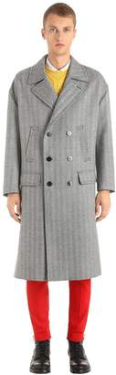 Neil Barrett Oversized Double Breasted Wool Coat