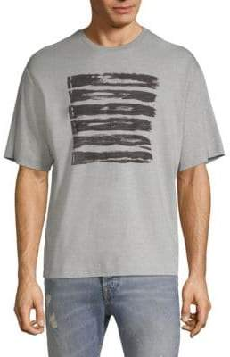 Diesel Black Gold DBG Stripe Design Graphic Tee