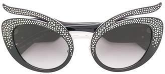 Miu Miu Swarovski crystal-embellished sunglasses
