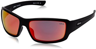 Revo Bearing RE 4057 01 OG Polarized Rectangular Sunglasses, Matte Black Solar Orange, 64 mm $189 thestylecure.com