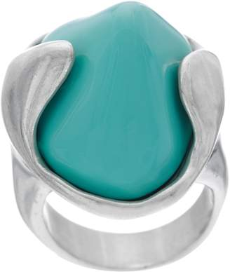 Uno de 50 Unode50 UNOde50 Sterling Silver Plated Turquoise Color Ring - Tarifa