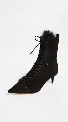 Alexandre Birman Millen Fur Booties
