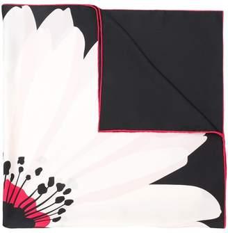 Valentino floral print neck scarf