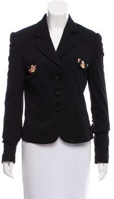 Vdp Collection Structured Embellished Blazer