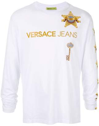 Versace star-print long-sleeve T-shirt