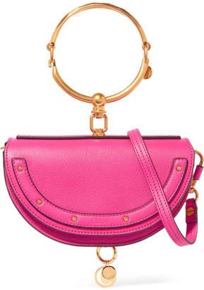 Chloé Nile Bracelet Mini Textured-leather Shoulder Bag - Fuchsia