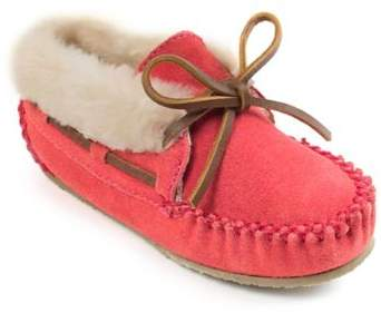 Bed Bath & Beyond Minnetonka Size 13 Charley Kid's Pull On Slipper in Hot Pink