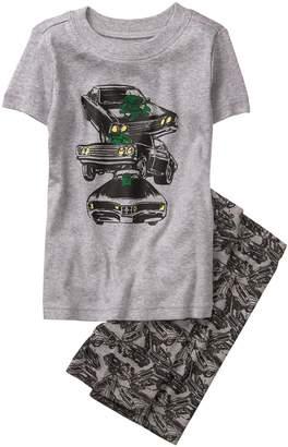 Crazy 8 Crazy8 Muscle Car Shortie 2-Piece Pajama Set