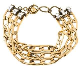 Lanvin Triple Chain-Link & Crystal Choker