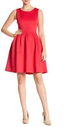 Modern American Designer Scuma Seamed Fit & Flare Dress