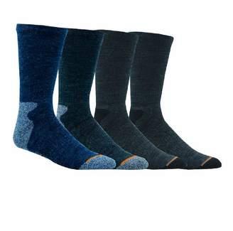 Weatherproof Weather Proof Premium Wool-Blend Crew 4PK Mens Socks size 10-13 Olive Tan Brown/Olive Green