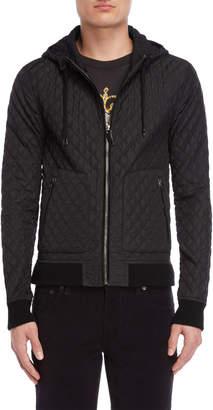 Dolce & Gabbana Black Diamond Quilted Jacket