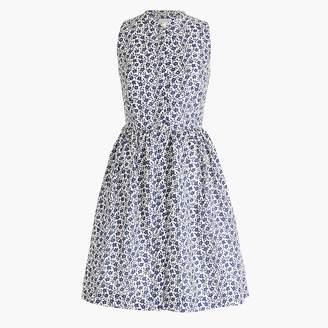 J.Crew Floral shirtdress in linen-cotton
