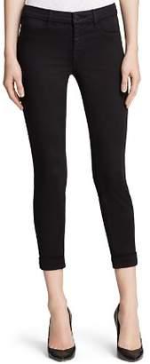 J Brand Jeans - Luxe Sateen Anja Cuffed Crop in Black