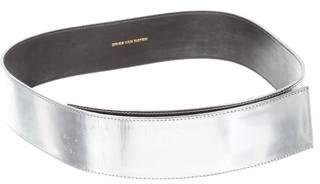 Dries Van Noten Metallic Leather Waist Belt w/ Tags