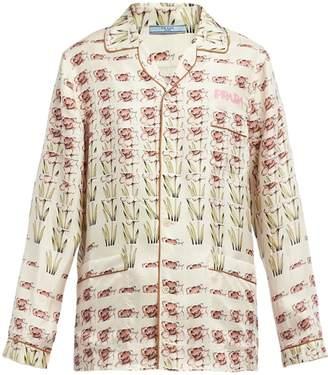 Prada Silk twill pajamas