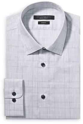 John Varvatos Tonal Plaid Slim Fit Dress Shirt