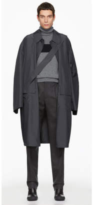 Random Identities Grey Satin Overcoat
