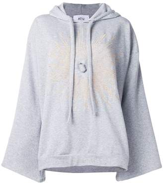 Couture Atu Body oversized crystal hoodie