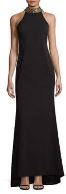Calvin Klein Choker Evening Gown