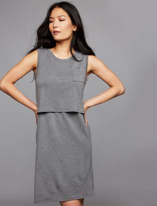 A Pea in the Pod Pull Down Lightly Lined Nursing Dress