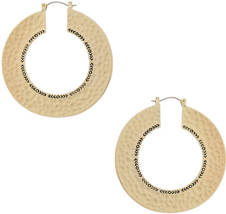 House of Harlow Helicon Hoop Earrings $58 thestylecure.com