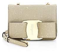 Salvatore Ferragamo Women's Mini Tess Bow Glitter Crossbody Bag