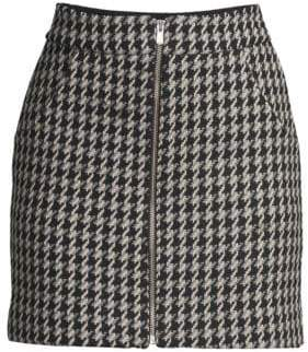 Maje Houndstooth Mini Skirt